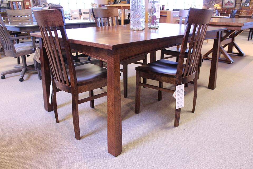 Brown Maple Dining Table with One 12