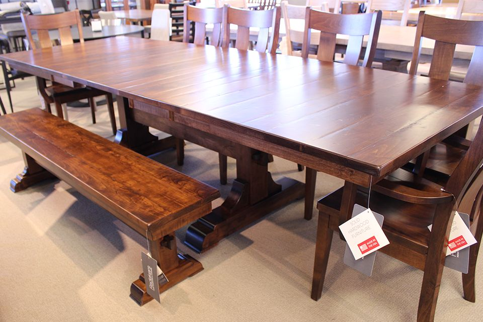 Brown Maple Dining Table with Four 12