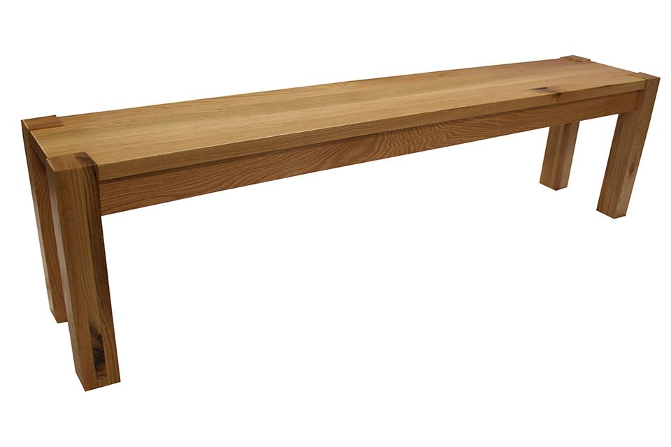 Rustic Red Oak Bench