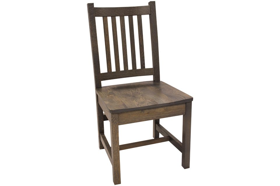 Rustic White Oak Side Chair