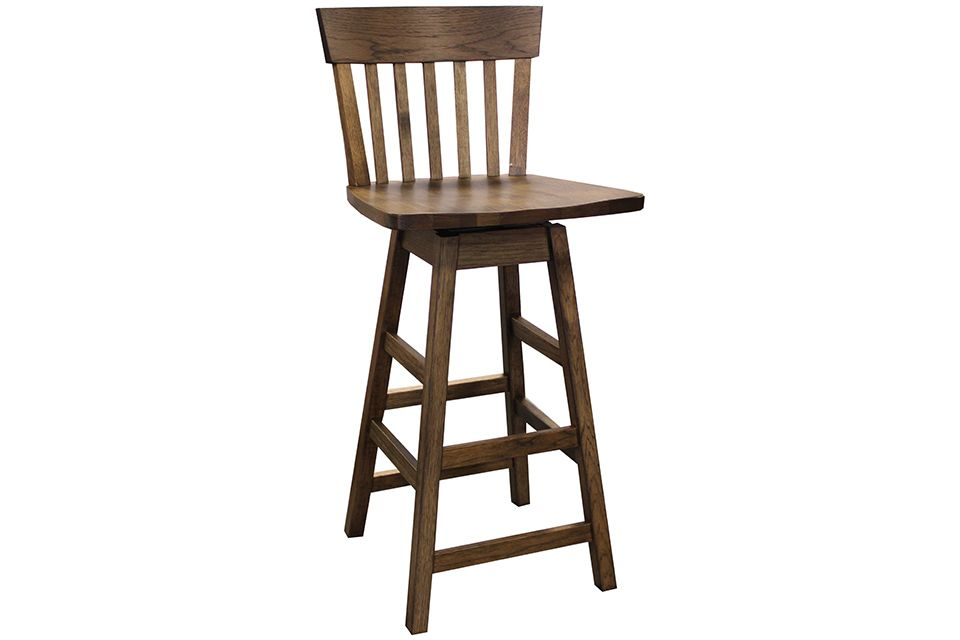 Hickory Swivel Bar Stool