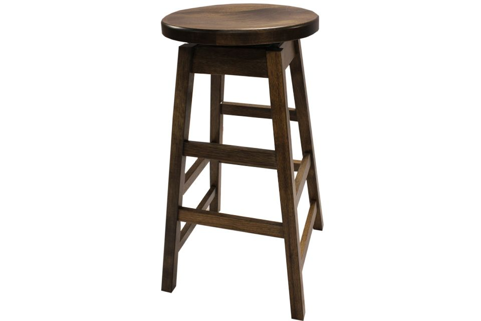 Hickory Swivel Stool