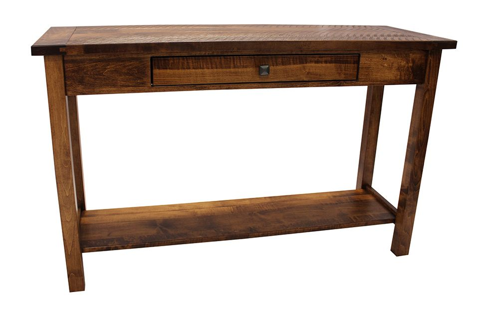 Brown Maple Sofa Table