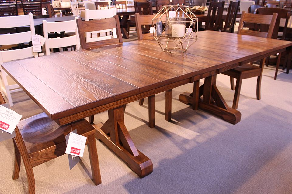 Oak Dining Table with Two 12