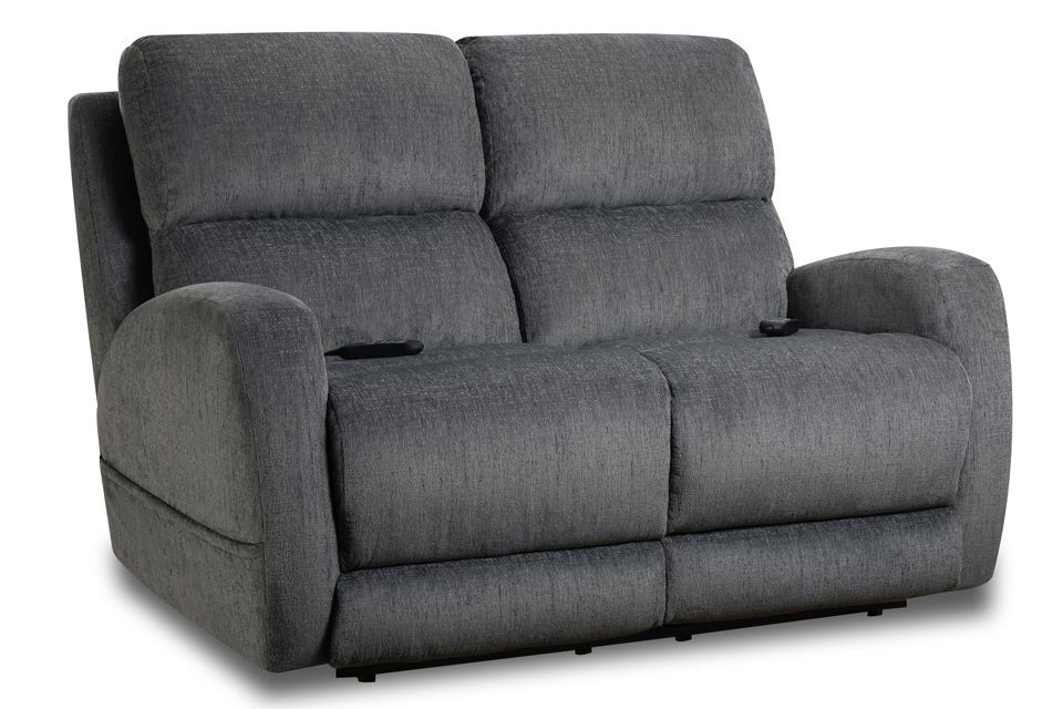 Homestretch Upholstered Power Reclining Loveseat