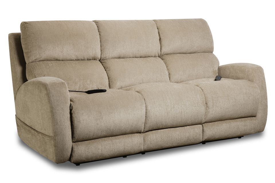 Homestretch Upholstered Double Reclining Power Sofa