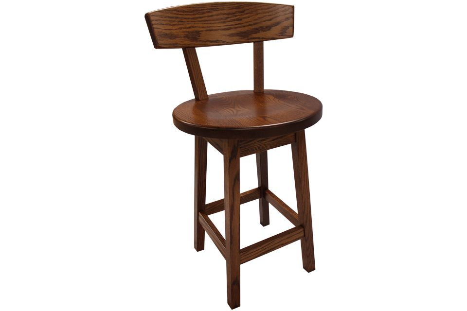 Oak Swivel Stool