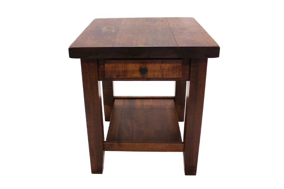Brown Maple End Table