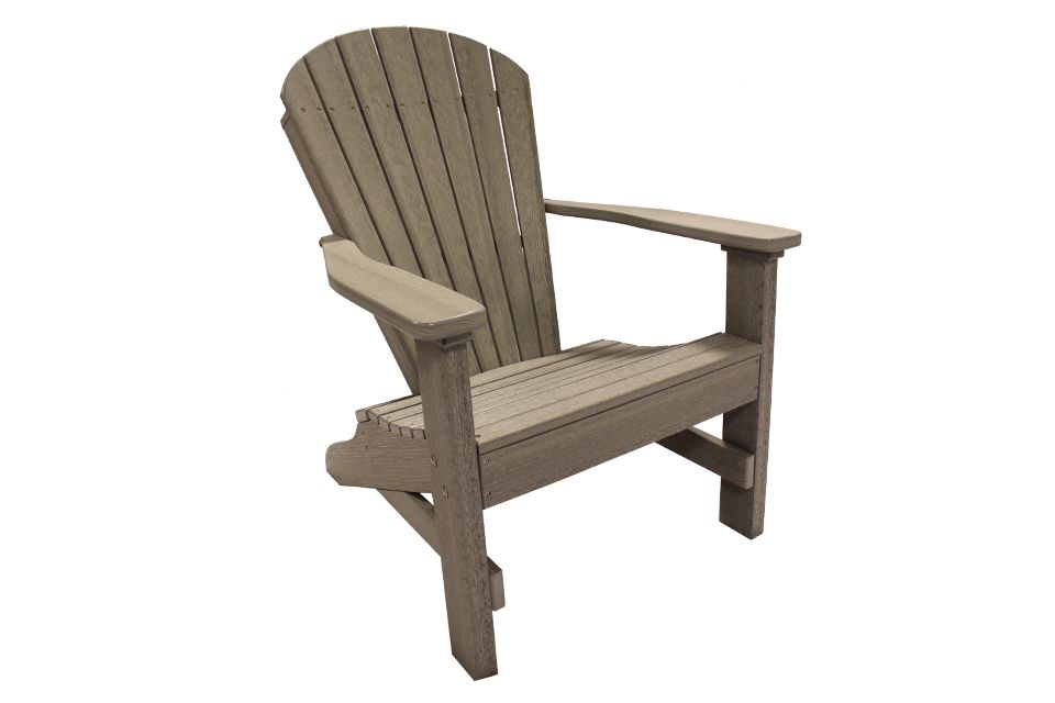 Outdoor Folding Adirondack Chair - Driftwood Grey