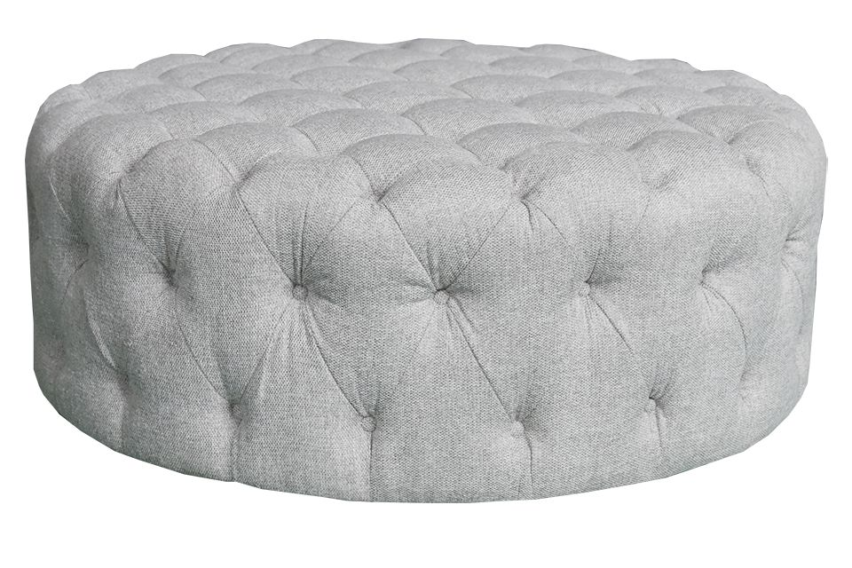 Urban Chic Large Upholstered Round Ottoman